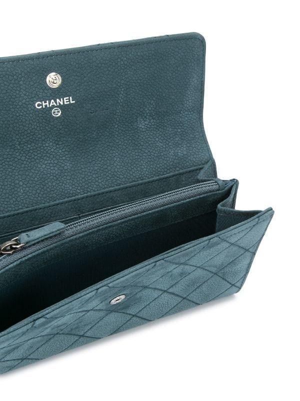 CHANEL水藍色皮夾