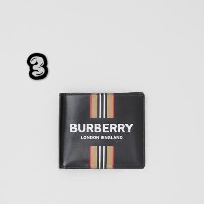 BURBERRY標誌性條紋雙摺皮夾
