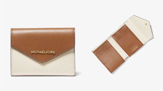 Michael Kors Jet Set 兩色橫紋信封錢包