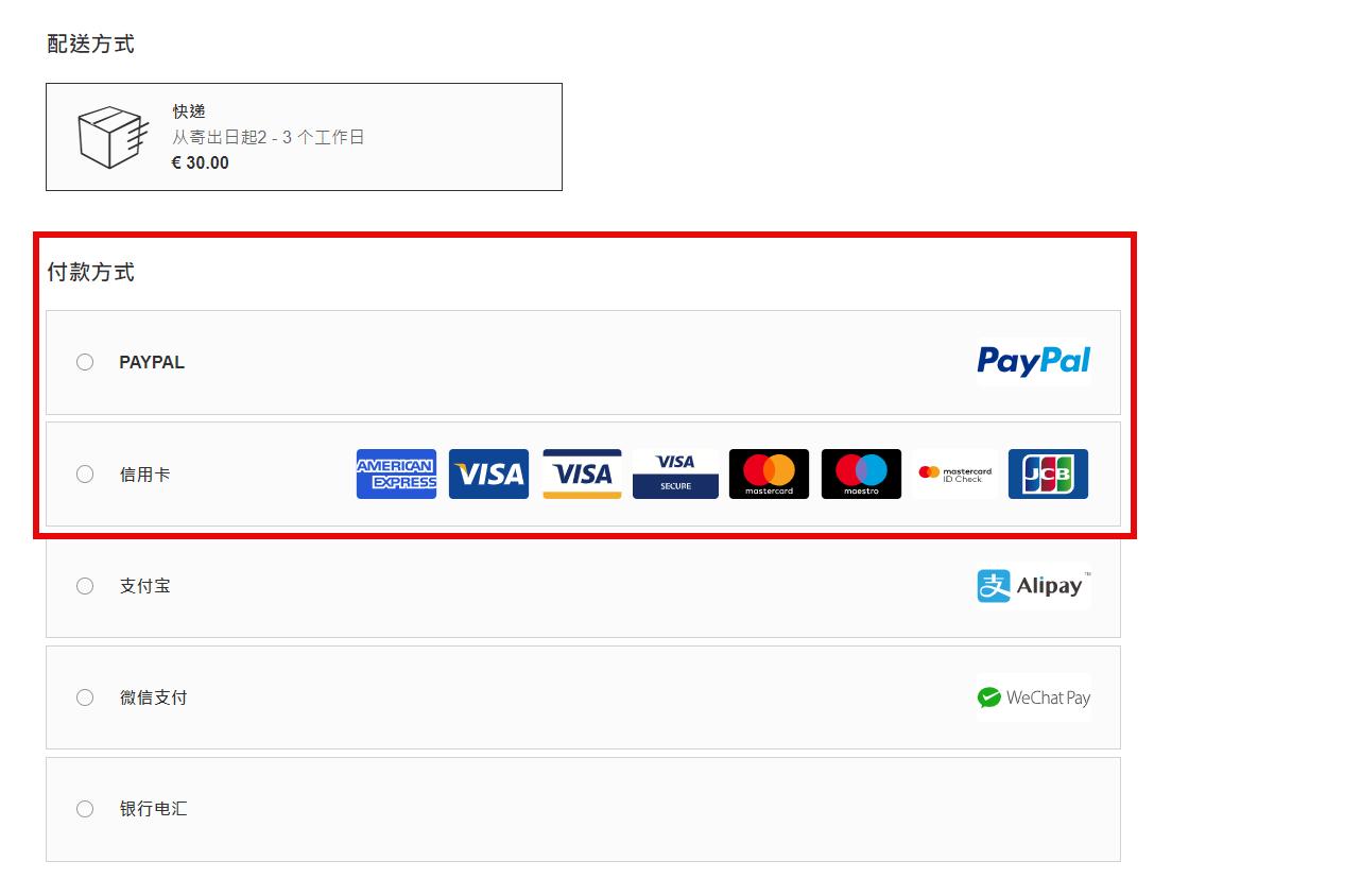 Luisaviaroma 信用卡資料