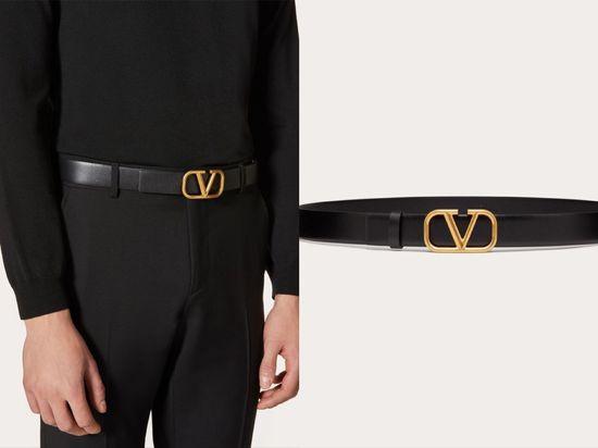 Valentino Garavani V形環徽標皮帶