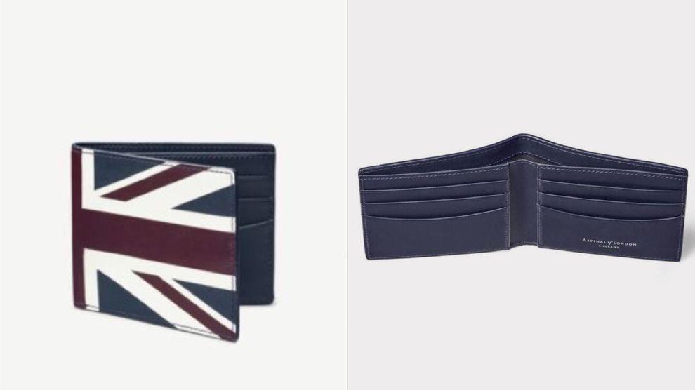 Aspinal Of London 旗幟旗幟印花皮夾