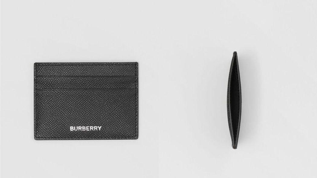 Burberry 粒紋皮革卡片夾