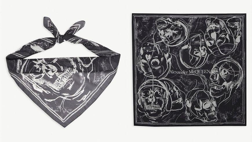 Alexander McQueen 骷髏頭印花方巾