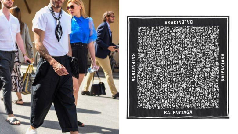 正方形絲巾