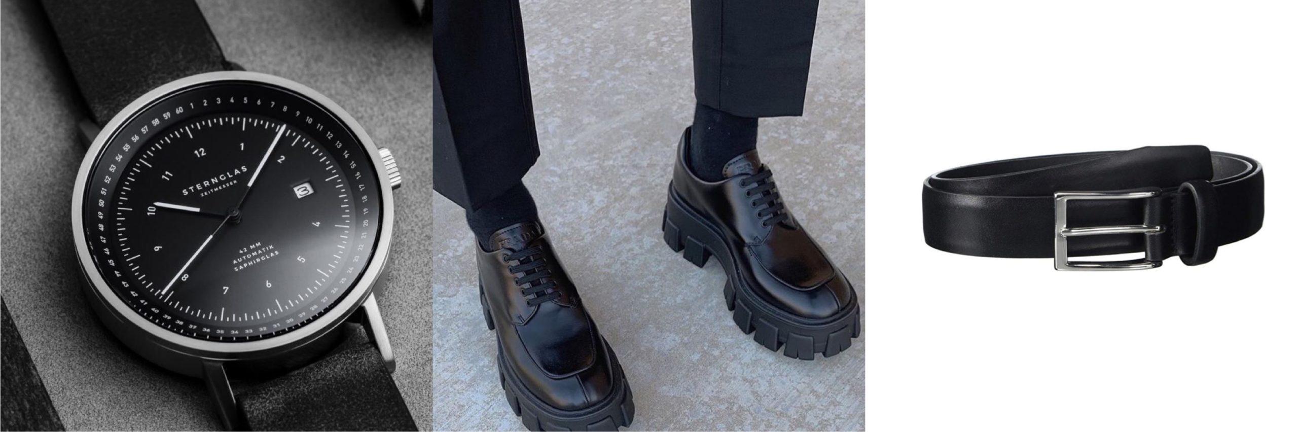 皮帶與皮鞋呼應色