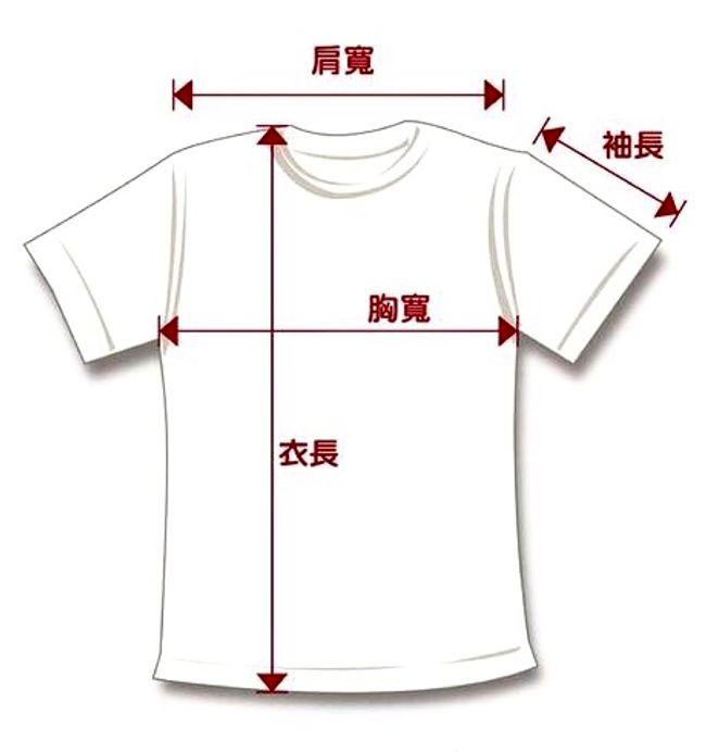 衣服尺寸示意圖