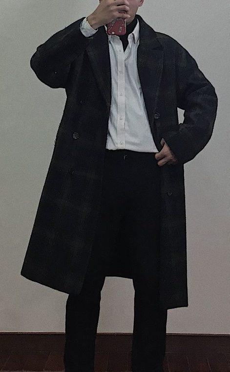 襯衫加大衣穿搭