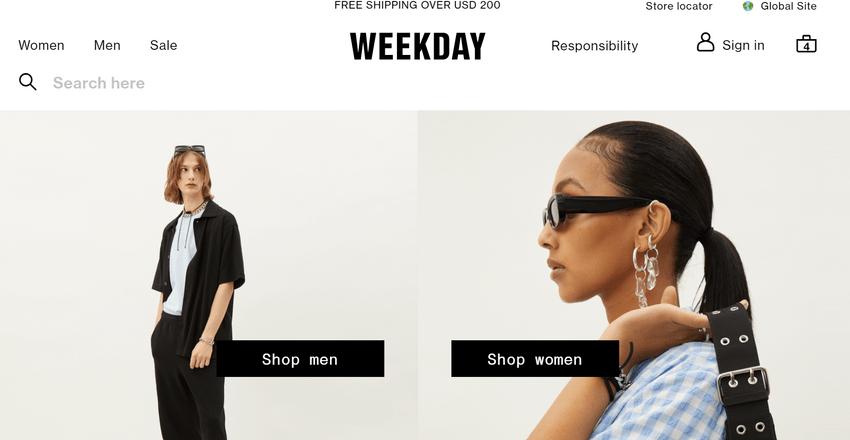 Weekday 男裝網購