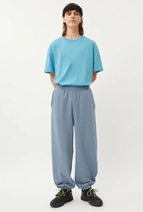 淺藍色棉褲
