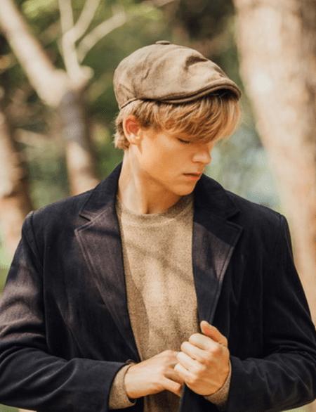Casual 棉麻感織紋 報童帽
