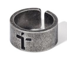 復古鏤空十字戒指