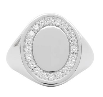 Hatton Labs 銀色&白色托帕石戒指