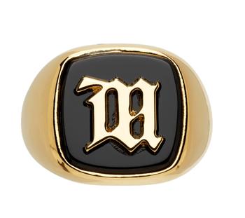 金色瑪瑙Monogram戒指