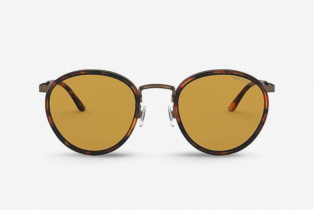 ARMANI圓框太陽眼鏡