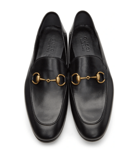 Gucci 黑色皮革馬銜扣樂福鞋
