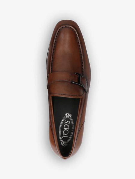 Tod's T字綴飾皮革樂福鞋