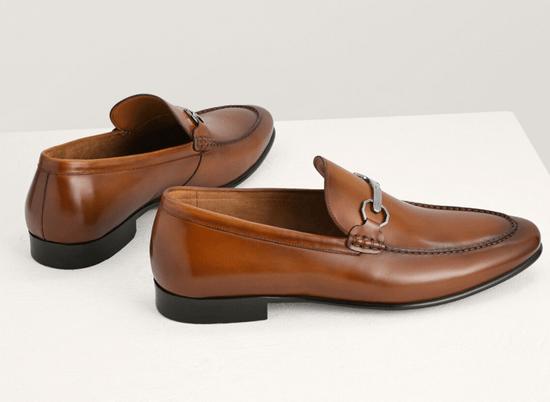 Pedro 帶釦皮革樂福鞋