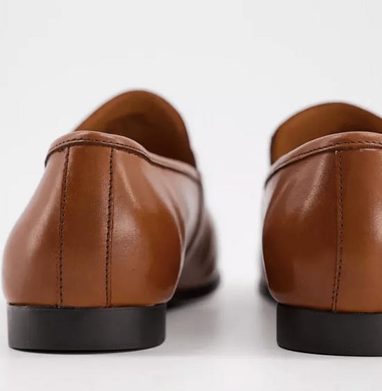 Office 棕褐色皮革樂福鞋