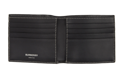 burberry 雙折帆布錢包