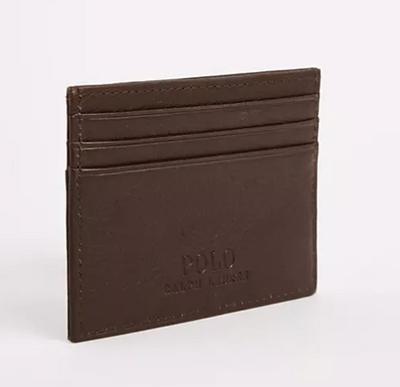 Polo Ralph Lauren 棕色皮革卡包