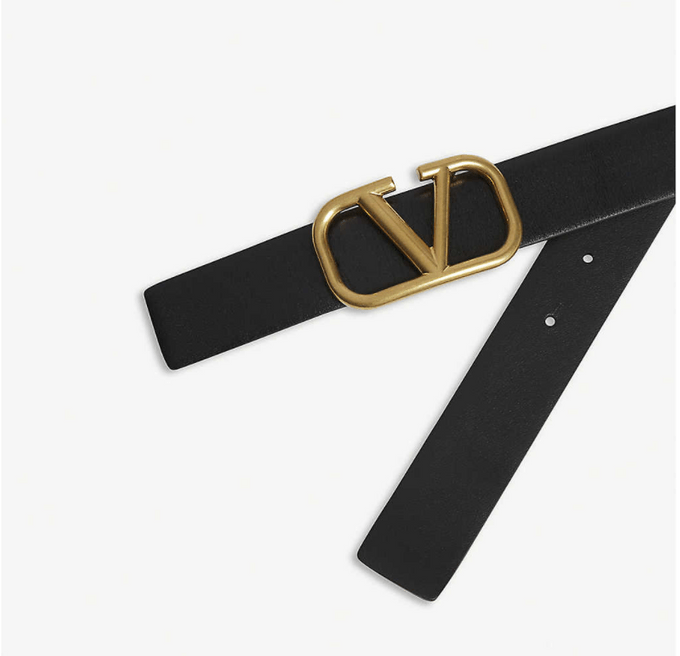 Valentino Garavani V徽標搭扣皮帶