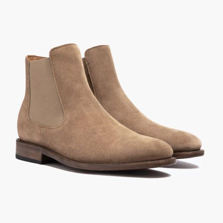 麂皮切爾西靴子