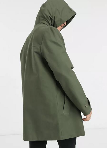 ASOS DESIGN綠色連帽風衣