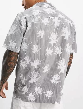 Calvin Klein 印紋古巴領襯衫