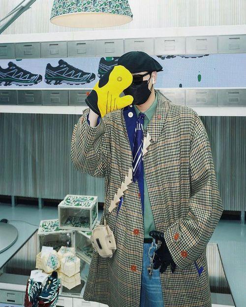 小偷帽+大衣外套穿搭