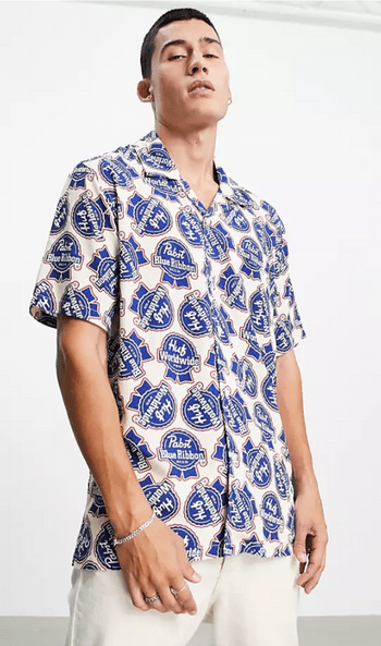 HUF x Pabst滿版印花古巴領襯衫