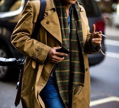 小偷帽+風衣外套穿搭
