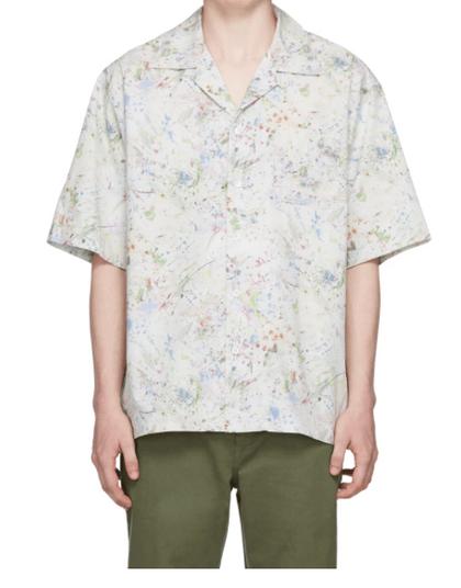 John Elliott白色古巴領襯衫