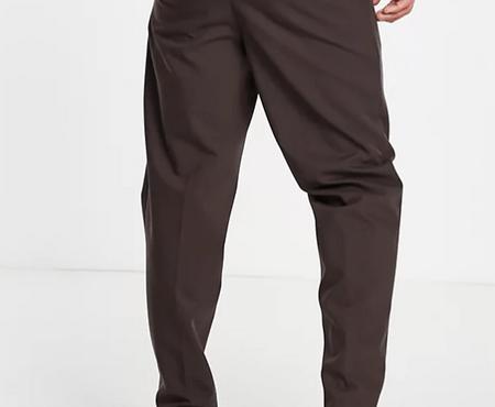 River Island 棕色休閒西裝褲