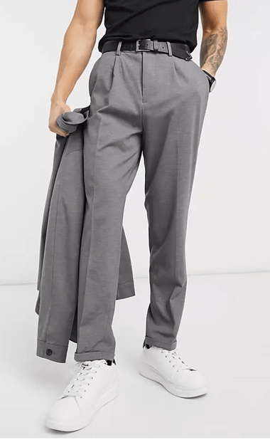 Selected Homme 平紋針織直筒西裝褲