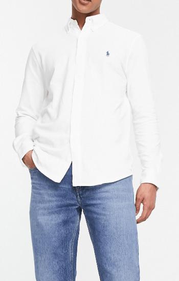 Polo Ralph Lauren 修身白色襯衫